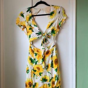 Sunflower floor length summer dress